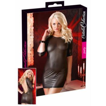 Cottelli - Fényesen áttetsző ruha (fekete)