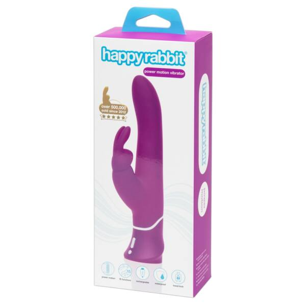 Happyrabbit Power Motion - akkus, vízálló, lökő vibrátor (lila)