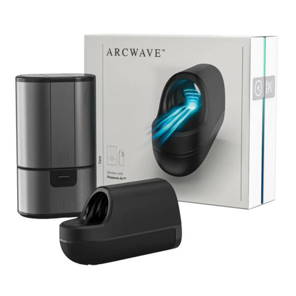 Arcwave Ion - vízálló, akkus, léghullámos maszturbátor férfiaknak (fekete)