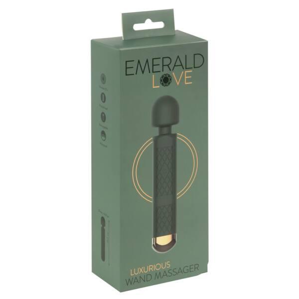 Emerald Love Wand - akkus, vízálló masszírozó vibrátor (zöld)