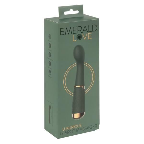 Emerald Love - akkus, vízálló G-pont vibrátor (zöld)