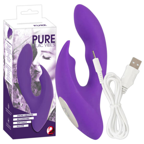 Pure Lilac - akkus nyuszis csiklókaros vibrátor (lila)
