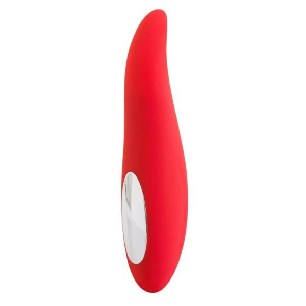 Züngel-Zunge - akkus, forgó nyelv vibrátor (piros)