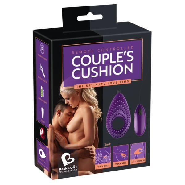 Couples Cushion 3 in1 - akkus párvibrátor (lila)