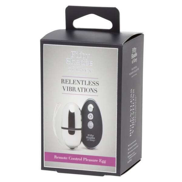 A szürke ötven árnyalata Relentless Egg - akkus vibrációs tojás (ezüst-fekete)