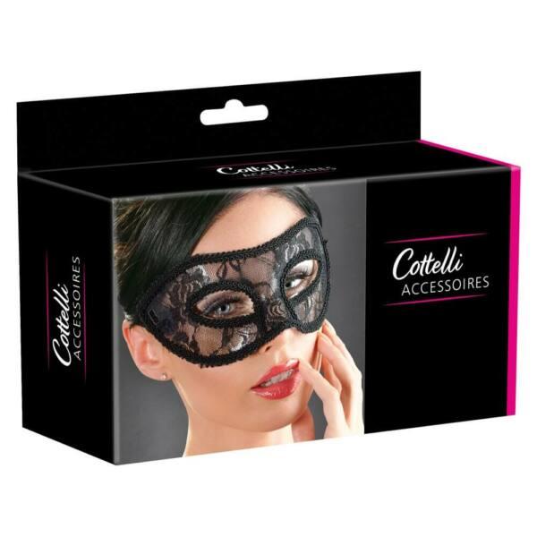 Cottelli - előformázott, csipke szemmaszk (fekete)
