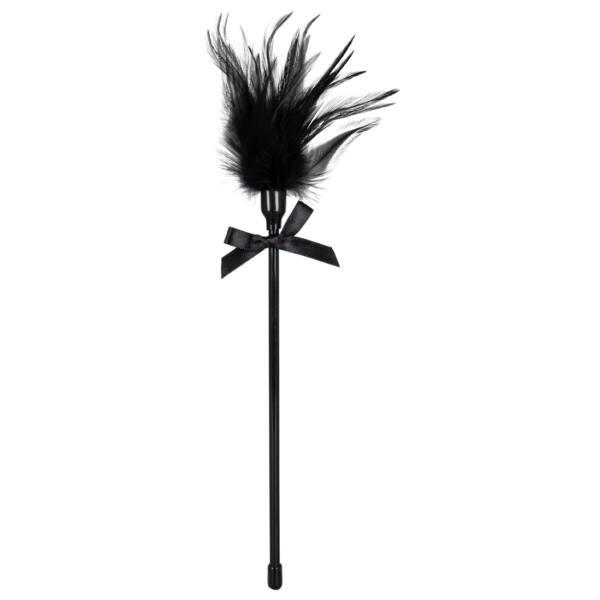Cirógató valódi tollakkal - fekete
