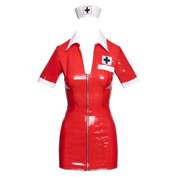 Black Level - lakk nővérke ruha jelmez (piros)