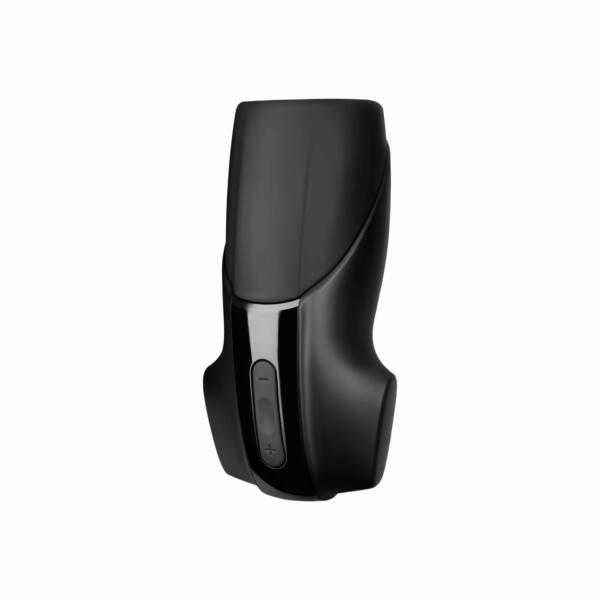 Satisfyer Men - akkus, extra erős makk vibrátor (fekete)