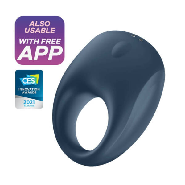 Satisfyer Strong One - okos, akkus, vízálló péniszgyűrű (kék)