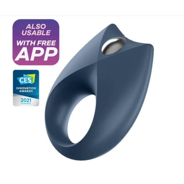 Satisfyer Royal One - okos, akkus, vízálló péniszgyűrű (kék)
