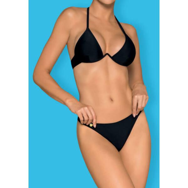 Obsessive Paralia - merevítős, nyakpántos bikini (fekete)