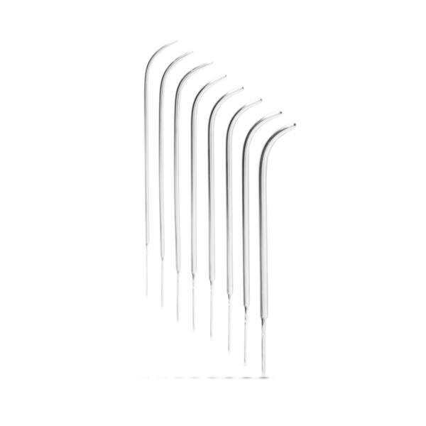 SINNER 182 - hajlított acél húgycsőtágító dildó szett (8 részes)