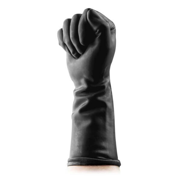 BUTTR Gauntlets - latex öklöző kesztyű (fekete)