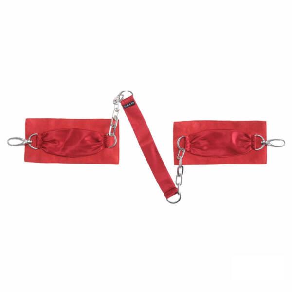 LELO Sutra - selyem csuklóbilincs (piros)