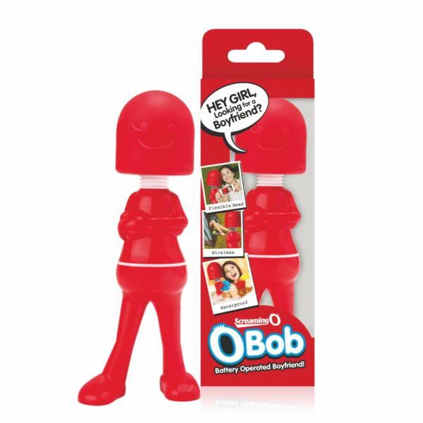 Screaming Bob Wand - masszírozó vibrátor (piros)
