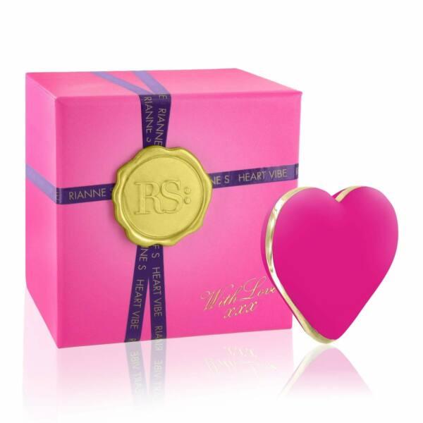 RS Icons Heart - akkus csikló vibrátor (pink)