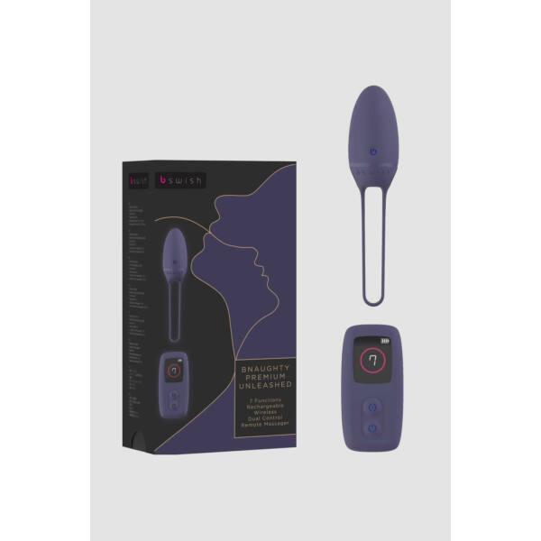 B SWISH Premium - akkus, rádiós vibrációs tojás (szürkés-lila)