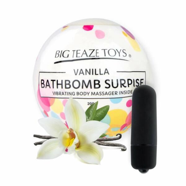 Big Teaze Toys - fürdőbombába rejtett minivibrátor (vanília)