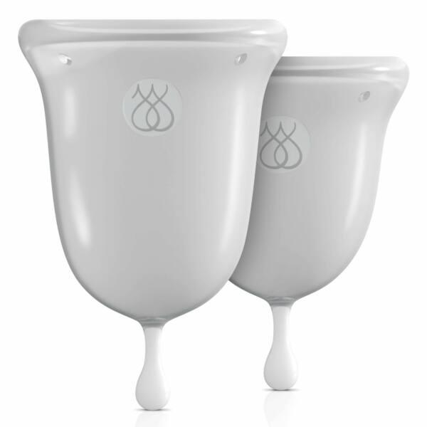 Jimmy Jane Menstrual Cup - menstruációs kehely szett (áttetsző-fehér)